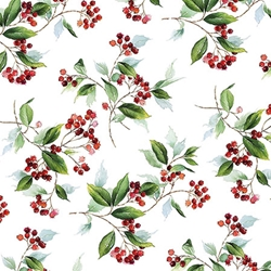 Holly Berry - Christmas Cocktail Napkins Christmas