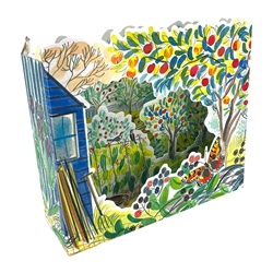 3D Allotments Trees - Blank Card