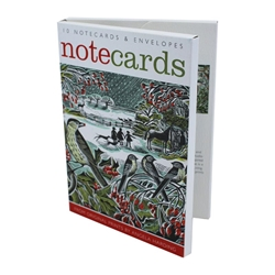1 NCW HOLLY LEDGE ART ANGELS notecards and stationery