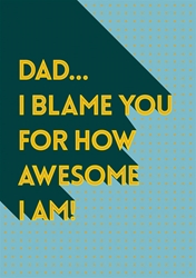 Awesome - Fathers Day Card