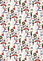 Christmas Music - Sheet Gift Wrap Christmas