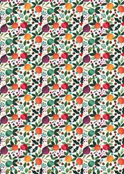 Christmas Fruit - Sheet Gift Wrap Christmas