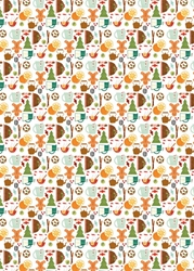 Christmas Treats - Sheet Gift Wrap Christmas