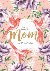 Birds & Flowers - Mothers Day Card
