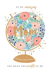 Mom Globe - Mothers Day Card