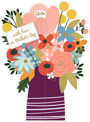 Vase & Flowers - Mothers Day Card