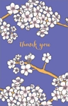 White Flowers - Thank You Card Thank You