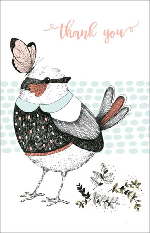 Greeting Card Bird Thank You Card