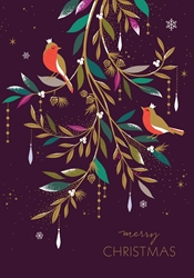 Birds on Branch - Christmas Boxed Cards Christmas