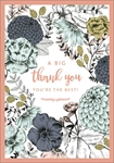 Flowers Big - Thank You Card Thank You