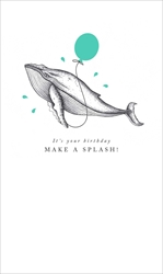 Whale - Birthday Card