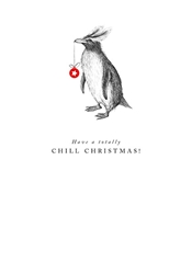 Penguin Chill - Christmas Card