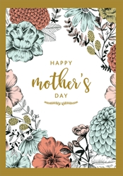 Zinnias - Mothers Day Card