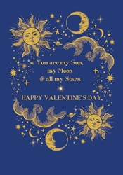 Sun and Moon - Valentines Day Card