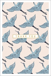 Blue Cranes Thank You Boxed Cards