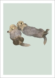 Sea Otters - Blank Card