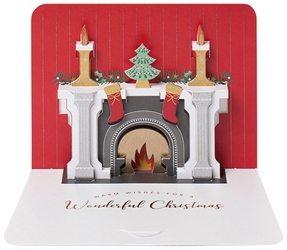 3D Fireplace - Christmas Boxed Cards Christmas