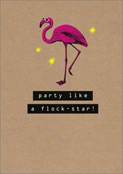 Flock-Star - Birthday Card