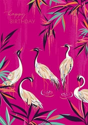 Cranes - Birthday Card