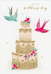Cake / Birds - Wedding Card notecards and stationery