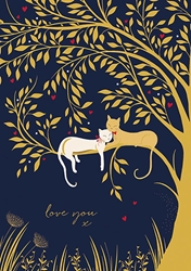 Cats Tree - Valentines Day Card