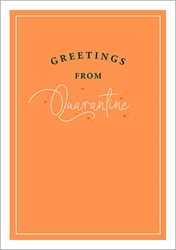 Greet Quarantine Covid - Friendship Card