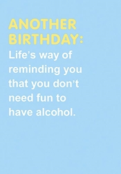 Alcohol - Birthday Card