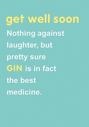 Gin - Get Well Card