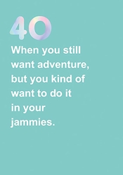 40 Adventure - Birthday Card