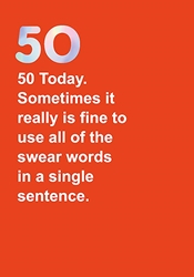 50 Swear - Birthday Card
