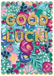 Flowers - Good Luck Card Good Luck