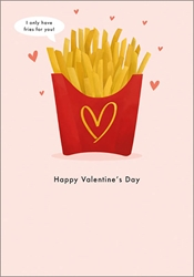 Fries For You - Valentines Day Card
