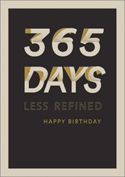 365 Days - Birthday Card notecards and stationery