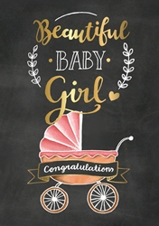 Baby Girl Congratuations - Baby Cards