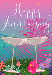 Two Glasses - Anniversary Card