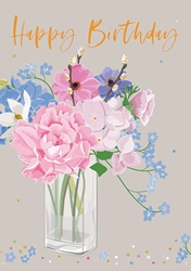 Bases / Flowers - Birthday Card