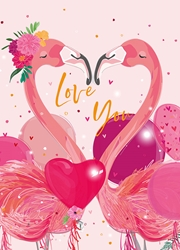 Flamingos - Valentines Day Card