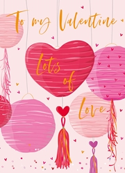 Heart Balloons - Valentines Day Card