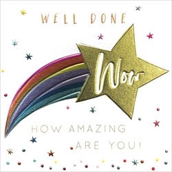 Well Done Wow - Congratulations Card Congratulations