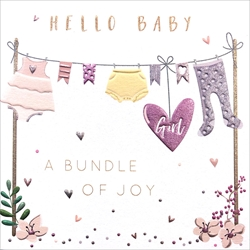 Hello Baby Girl - Baby Card Baby
