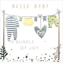 Hello Baby Boy - Baby Card Baby