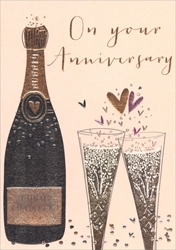 Champagne - Anniversary Card