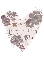 Heart - Anniversary Card