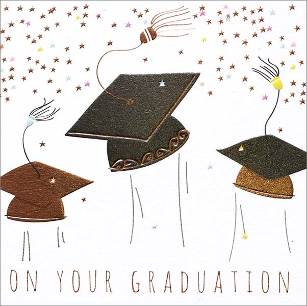 Caps - Graduation Card