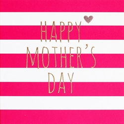 Red Stripes - Mothers Day Card