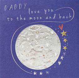 Moon & Back - Fathers Day Card