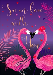 Flamingo - Valentines Day Card