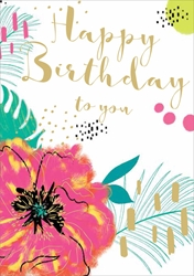 Pink Pansy - Birthday Card