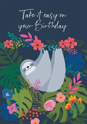 Sloth Relax - Birthday Card