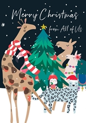 Animals from All ? Christmas Card Christmas